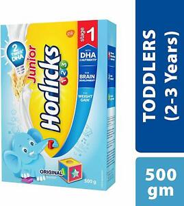 Junior Horlicks Stage 1 2 3 Years Health And Nutrition Drink 500 G Refill Ebay