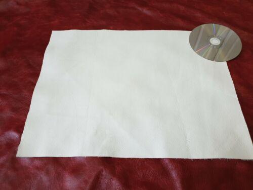 Blanc 40cmx30cm GRAND CHUTE DE 100/% cuir 1.2 mm Craft Patch réparation restaurer
