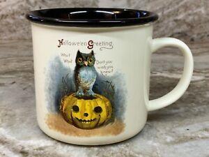 Vintage Inspired Halloween Coffee Mug You Choose New. Ivory And Black