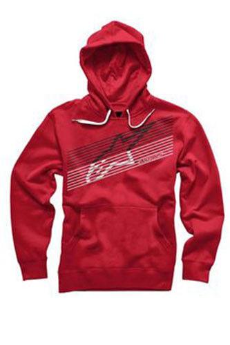 Alpinestars Underlined Pullover Fleece Hoody (M) Red
