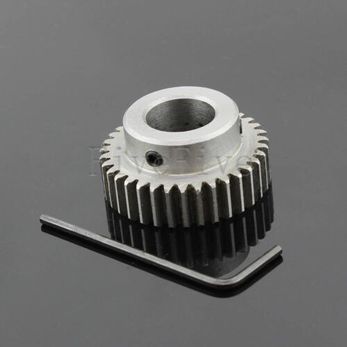 1M35T 6-17mm Bore Hole Width 10 Module 1 Motor Metal Spur Gear With Top Screws