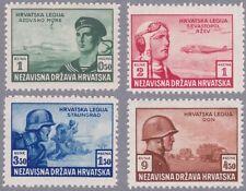 Kroatien 1943 Mi.Nr. 107-110 postfrisch
