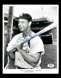 Stan Musial PSA DNA Coa Hand Signed 8x10 Photo Autograph