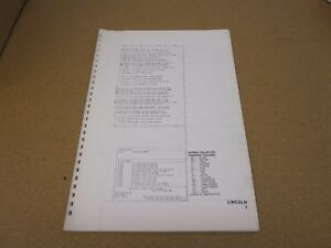 image is loading original-1976-lincoln-continental-wiring-diagram-sheet- schematics-