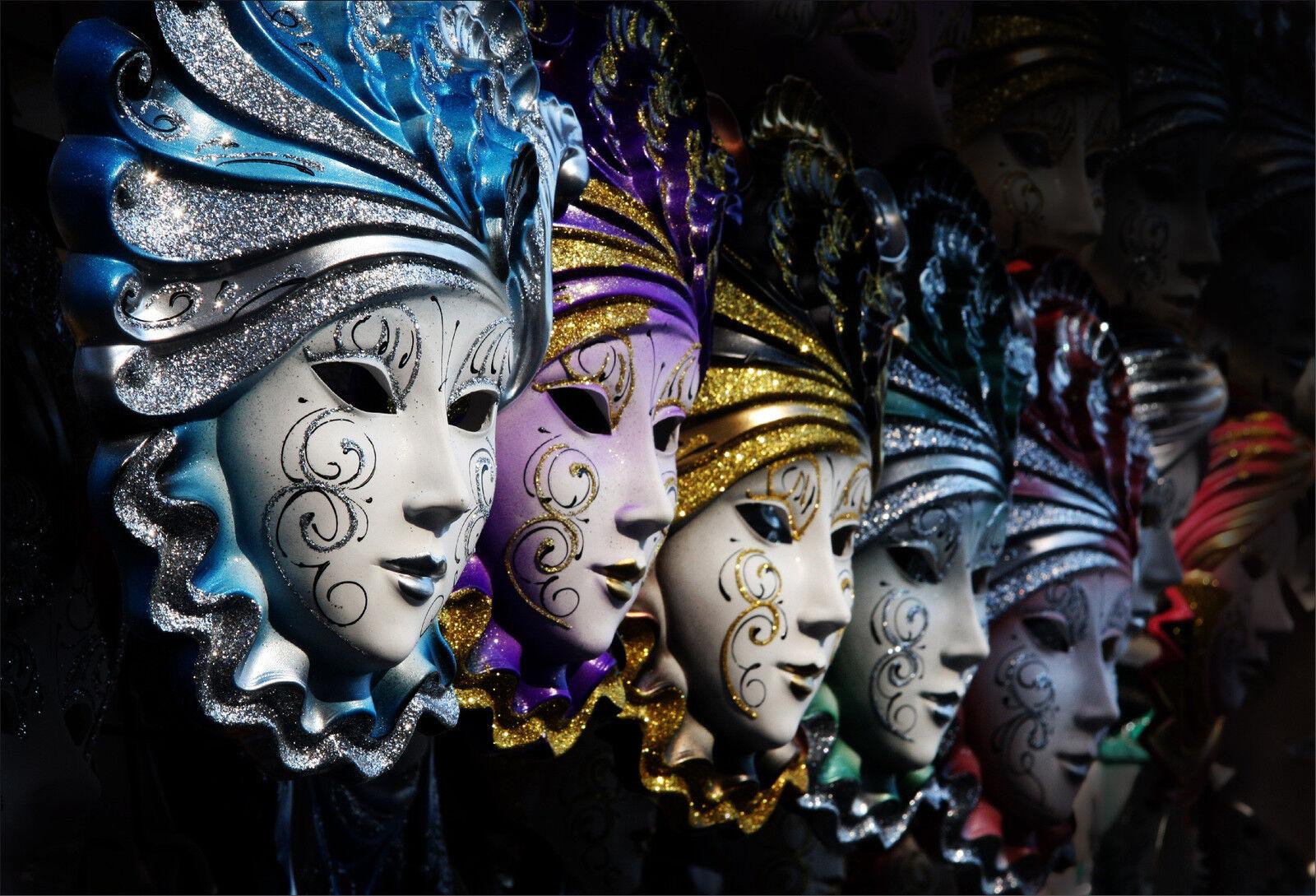 Stickers muraux autocollant déco déco déco Masques Venise - réf 1579 (16 diHommes sions) | De Qualité Supérieure  eef98d