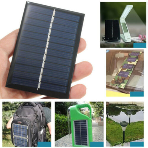 5V 0.7//0.8//1.1//1.2W Mini Solar Panel Module For Battery Cell Phone Charger DIY
