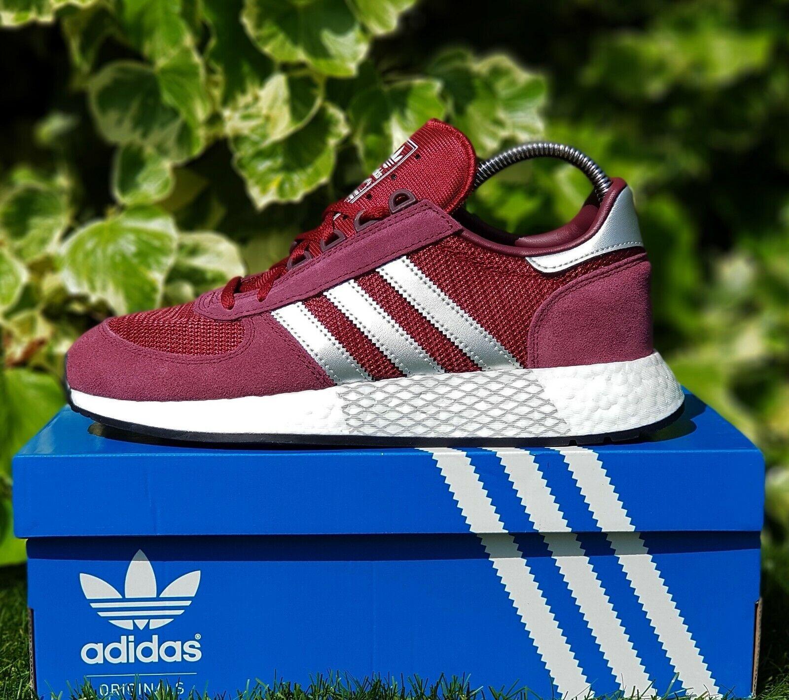 BNWB & AUTHENTIQUE Adidas Originals ® Marathon X5923 Bordeaux paniers Taille UK 11