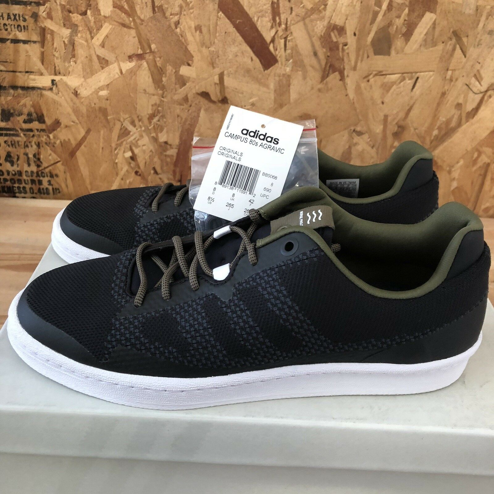 Adidas Campus 80s Agravic PK Norse Projects BB5068 - Dark Grey   Black Size 8.5