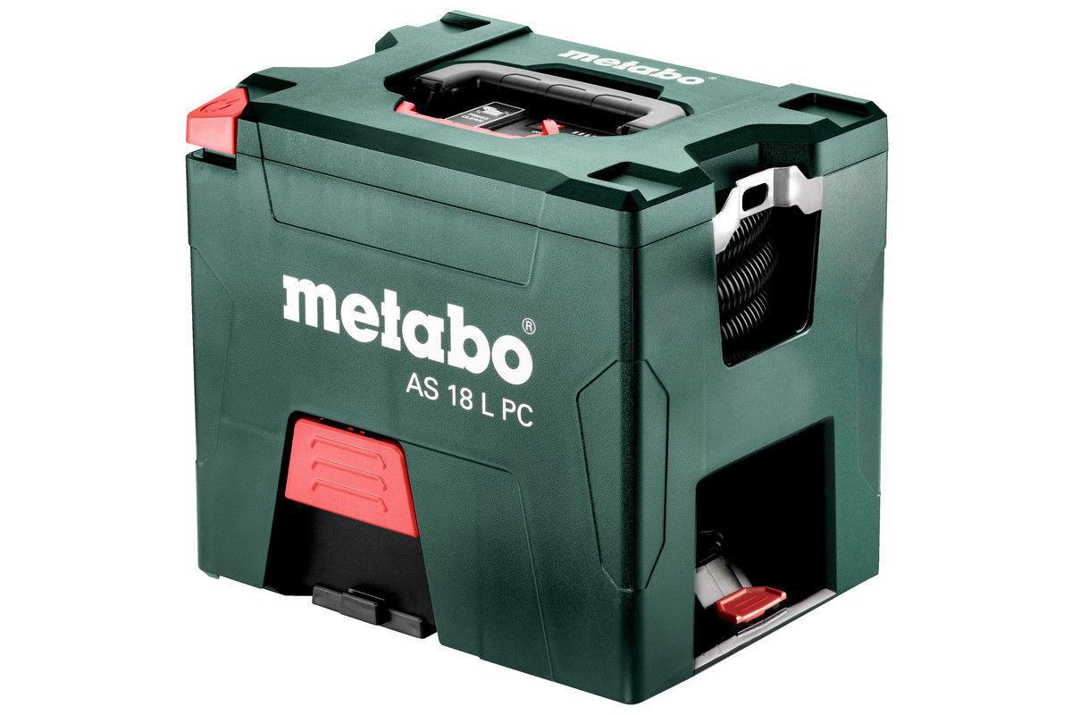 Akku Sauger AS 18 L PC Metabo ohne Akku im Karton max Leistung 2100 L Min