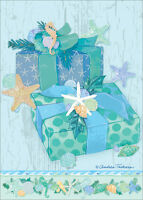 Ocean Holiday Gifts Box Of 18 Warm Weather Tropical Christmas Cards