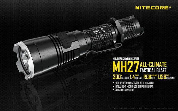 NITECORE Mh27 CREE Xp-l Hi V3 LED 18650 Tactical Flashlight Torch Nl189 Battery for sale online