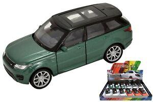 Welly-Metal-Die-Cast-Tire-hacia-atras-4-5-034-Range-Rover-Sport-Ninos-Vehiculo-Coche-de-juguete