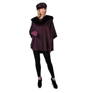 Women-039-s-Winter-Fall-Faux-fur-Cape-Wrap-poncho-shawl-Jacket-Coat-plus-LXL1X2X3X4X