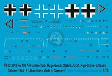Peddinghaus 1/72 Fw 190 A-6 Markings Hugo Broch Stab II./JG 54 Riga 1944 3045