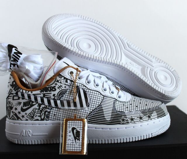 low priced 7c4e3 103f3 Nike Men Air Force 1 Low SOHO NYC PRM ID Laser Black White sz 5.5