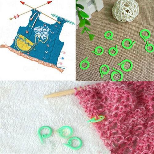 Hot 20Pcs Knitting Crochet Craft Locking Stitch Markers Holder Needle Clip PJB