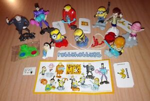 DESPICABLE-ME-3-COMPLETE-SET-WITH-ALL-PAPERS-KINDER-SURPRISE-2017-MINIONS