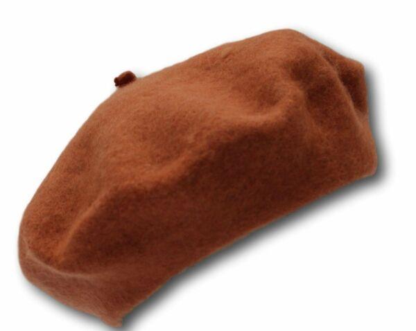 100% Pure Wool Fashion Beret - Mustard Orange - Unisex - For Men & Women Sconto Complessivo Della Vendita 50-70%