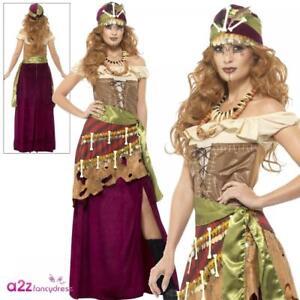 Image Is Loading Womens Deluxe Voodoo Priestess  Gypsy Halloween Adult Ladies