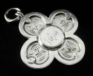 Unusual-Silver-Pocket-Watch-Fob-Medal-Vaughton-amp-Sons-Birmingham-1911