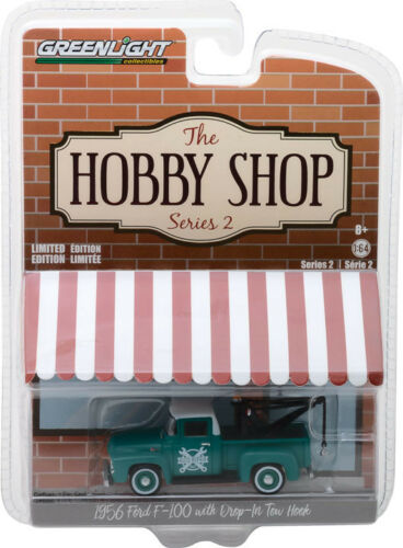 Greenlight Hobby Shop Series 2 1956 Ford F-100 Tow Truck Auto Repair