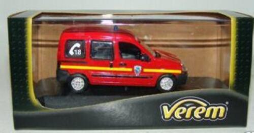 RENAULT KANGOO POMPIER VEREM V1109 1//43 FIRE BOMBEIRO CDI DE L/'ESSONNE