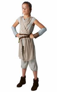 Ragazze-Star-Wars-Bambino-Rey-Costume-di-Qualita-Vestito-da-Festa