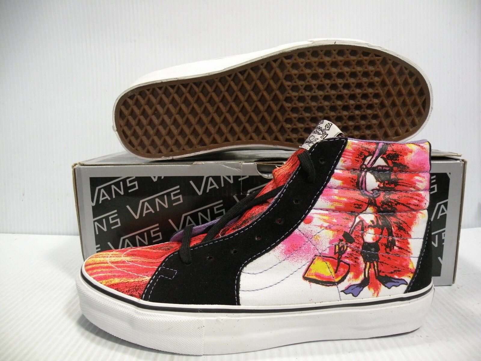 VANS SK8 HI VAULT BOOGIE Tuba toile hommes chaussures 5894299 Noir Taille 9 NEUF