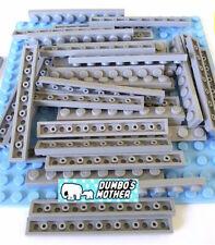 Lego Lote De 20 1x8 Placa De Pedra Cinza Escuro 4210998 3460