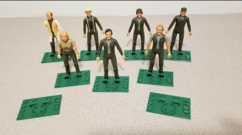 M*a*s*h mash 4077th 1982 action figure custom set of 3 stands tri-star toy
