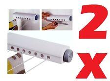 2 X 14M Automatic INDOOR Wall Mounted RETRATTILE lavaggio linea BUCATO STENDINO NUOVO