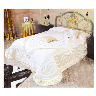 Trapunta Perla Invernale Piumone Moderno Elegante Matrimoniale Panna Ricamo Delizioso Nel Gusto