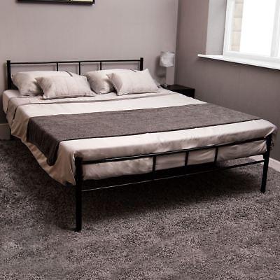 Dorset Double Bed Frame Black Metal Steel Modern Stylish Comfy Strong Modern