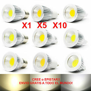 1x-5x-10x-Lamparas-Led-Cob-regulable-6w-9w-12w-15w-Brillante-mr16-gu10-e27