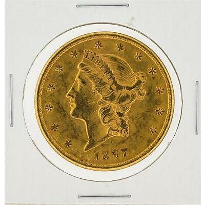 1897-S $20 Liberty Head Double Eagle Gold Coin Lot 786