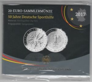 50 Years German Sports Aid Silver Proof 2017