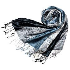 78052 LORENZO CANA Herrenschal Schal 100% Seide Blau Seidenschal Seidentuch
