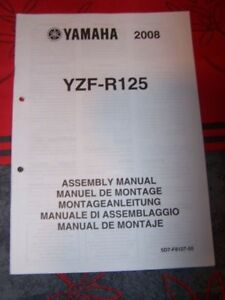 1k - Notice/manuel Montage/assemblage Supplement Yamaha Moto Yzf-r125 R 125 2008 Xanrhmgs-07224858-694760432