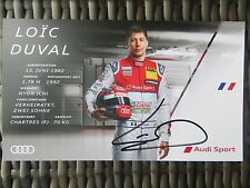 Handsignierte AK Autogrammkarte *LOIC DUVAL* Audi Sport Team DTM Saison 2017