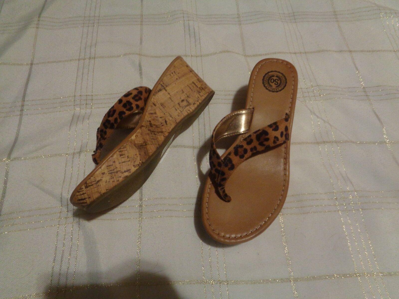 so dotty heels leopard thong wedge heels dotty shoes size 7 51500d
