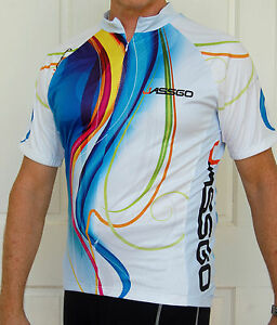 Jassgo-Cycling-Bike-short-Sleeve-Jersey-mens-womens-Slim-fit-multi-Coloured