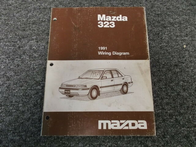 1991 Mazda 323 Original Electrical Wiring Diagram Manual