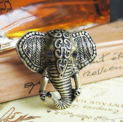 R1052 Retro Style New Arrival Bronze Elephant Face Ring