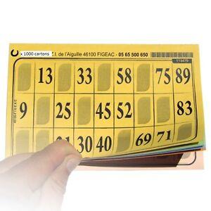 Spiele 1000 Boxen von Loto Blatt Gitter eco alle unterschiedliche Platten Karten