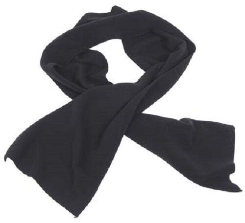 Fleece Schal Fleeceschal schwarz 160 x 25 cm sehr warm NEU !