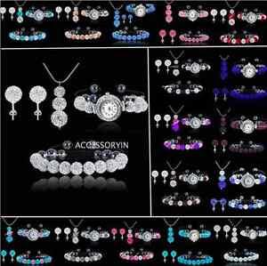 SHAMBALLA-11-Bead-Bracelet-8-Bead-Watch-3-Bead-Pendant-Necklace-Stud-Earring-Set