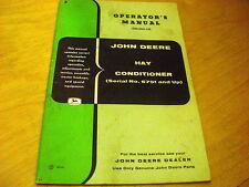 John Deere Hay Conditioner Mower Operators Owners Manual Oem Jd