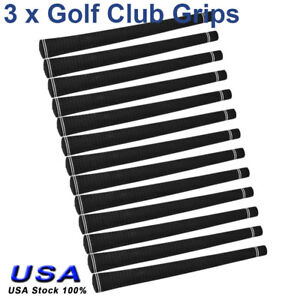 13-Pcs-Golf-Club-Grips-Sets-Replacement-Rubber-Anti-skid-Standard-Size-Black-US