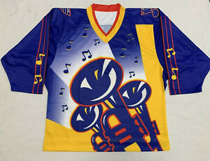 new concept 2a65e 54290 New Large St Louis Blues 95-96 'Lost' Trumpet Third Jersey ...