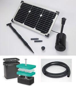 20w solarpumpe solar gartenteich filter bachlauf teich for Gartenteich ohne filter